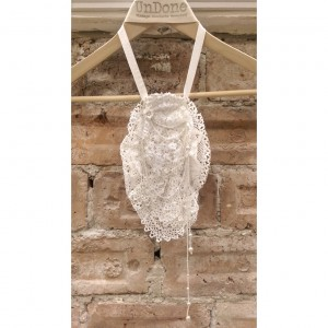Antique Lace and Draped Pearl Collar Necklace