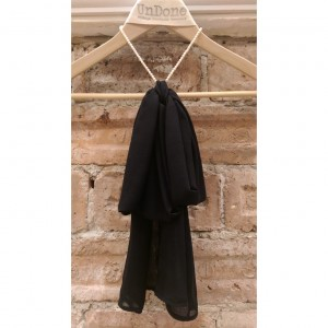 Black Silk Chiffon Bow Collar Necklace